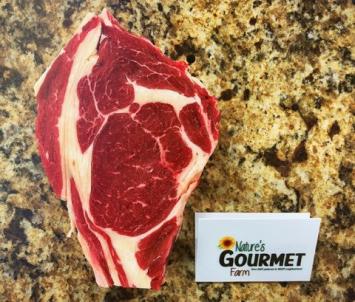 """Rib-Eye Steak, Boneless Hand Cut 1.25"""" Thick"""
