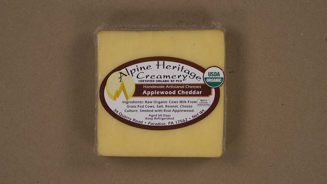 Applewood Smoked Cheddar Cheese, Cut
