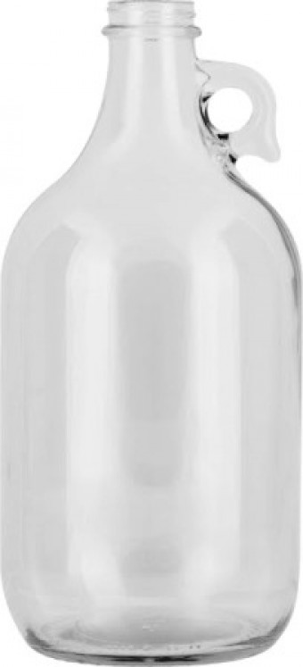 Half Gallon Glass Jar (optional filled with free A2-A2 raw cow's milk) - ON FARM PICKUP ONLY