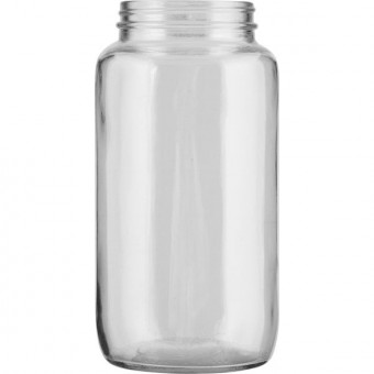 Quart Size Glass Jar (optional filled with free raw cow's milk)