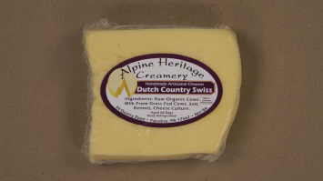 Dutch County Swiss Cheese, Cut