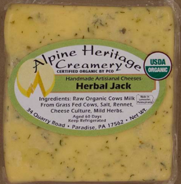 Herb Jack Cheese, Cut
