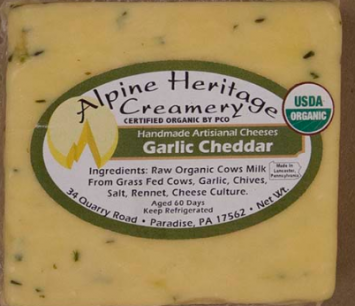 Garlic Cheddar Cheese, Cut