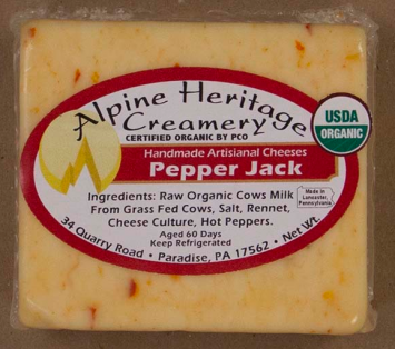 Hot Pepper Jack Cheese, Cut