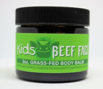 Beef Face Kids - GrassFed Body Balm - eczema, psoriasis, sunburns