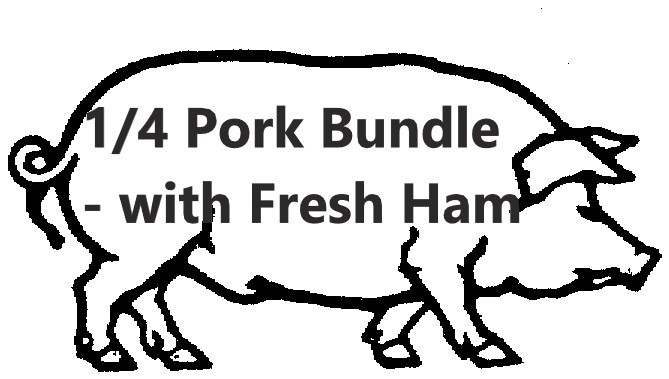 28# Pork Bundle, with Fresh (uncured) Ham Roast