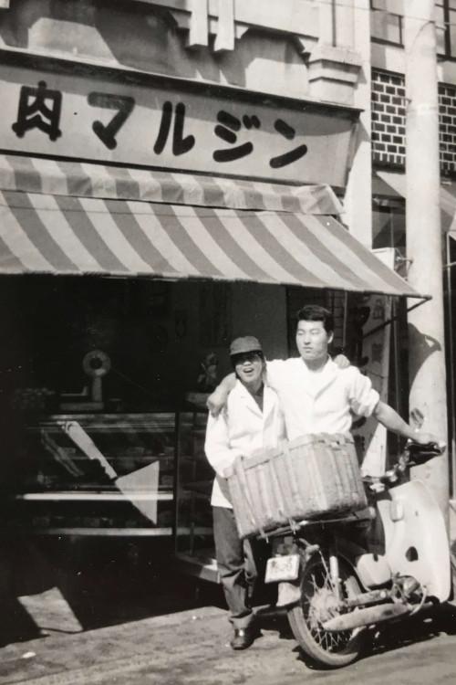 Mitsuru helping family business (1962)
