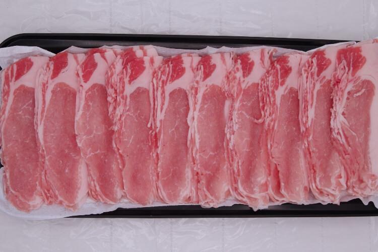 173 Berkshire Pork Loin Slice 2mm 黒豚シャブ 2mm  300g (10.5 oz)