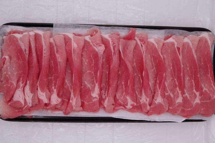 174 Berkshire Pork Leg Slice 黒豚モモ肉  300g (10.5 oz)