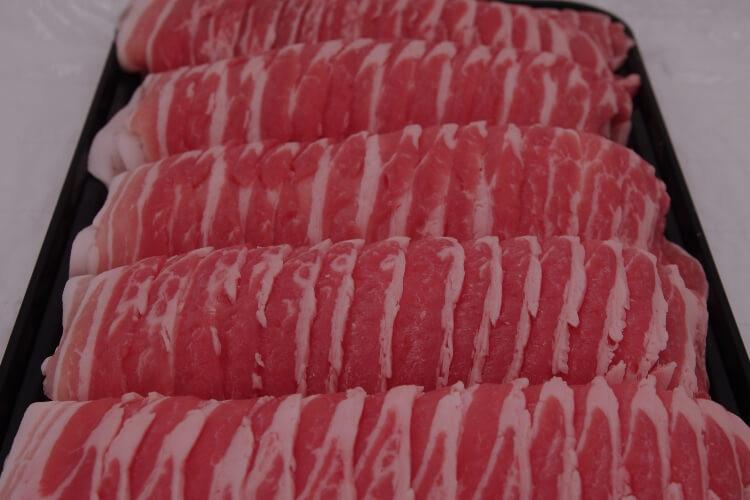 177 Berkshire Pork Belly Slice 黒豚三枚肉  300g (10.5 oz)