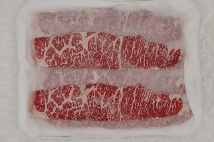 057 Beef Bnls Short Rib AAA Slice 霜降りカルビAAA薄切り 500g (1.1 lbs) Frozen