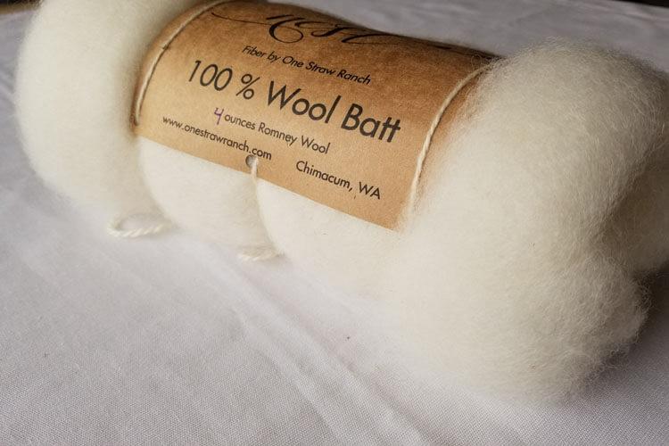 Wool Batt - White
