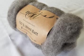 Wool Batt - Grey