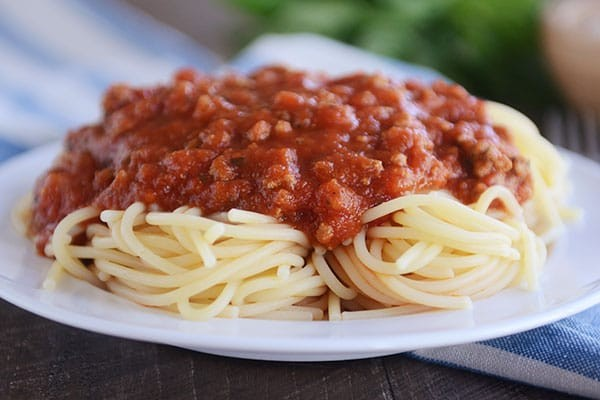 Ground Pork Spaghetti