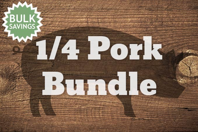 1/4 Pork Bundle (28 lbs of meat)
