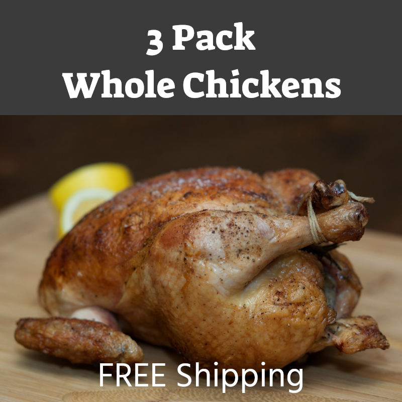 (3 Pack) Whole Chickens - Reg Size