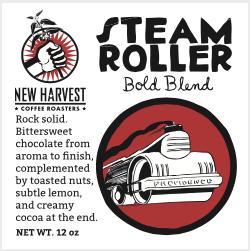 New Harvest Steamroller Coffee