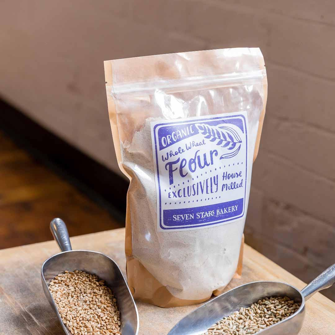 SEVEN STARS House Milled Whole Wheat Flour (2# bag)