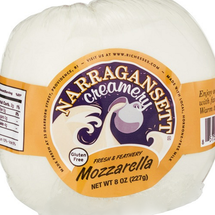 Narragansett Creamery: Fresh Mozzarella 8 oz Wrap