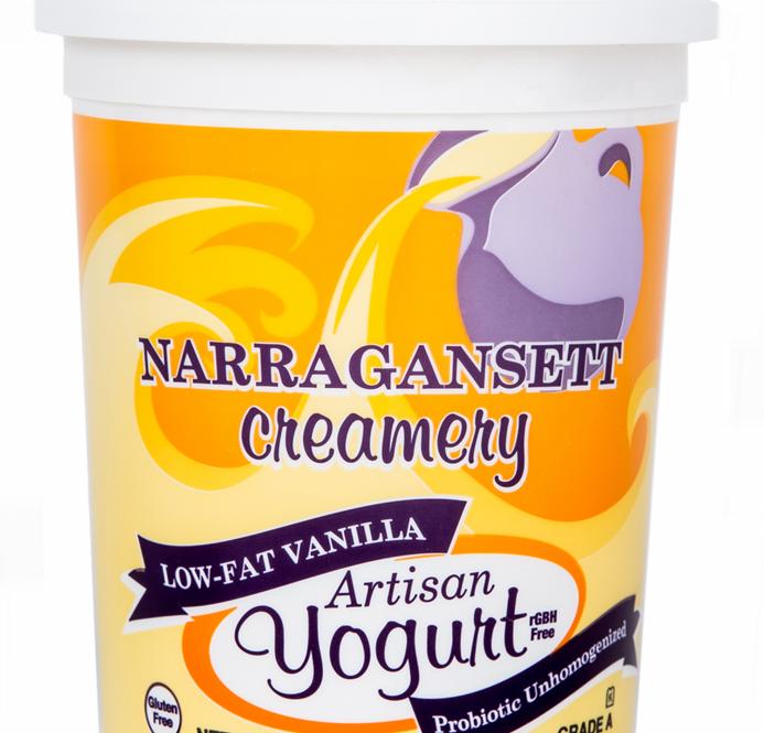 Narragansett Creamery: 32 oz Vanilla Yogurt Homogenized