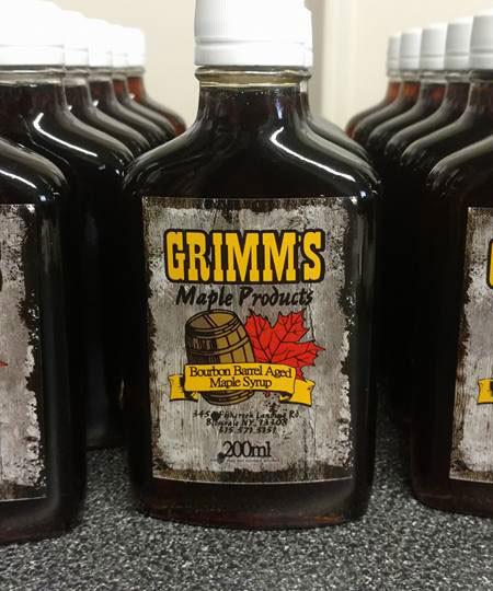 Grimm's Bourbon Barrel Aged Maple Syrup