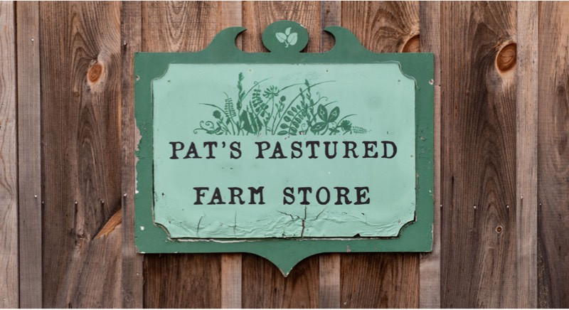 farm store sign