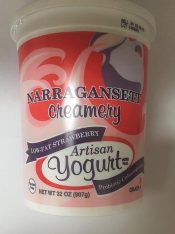 Narragansett Creamery: 32 oz Strawberry Low Fat Yogurt