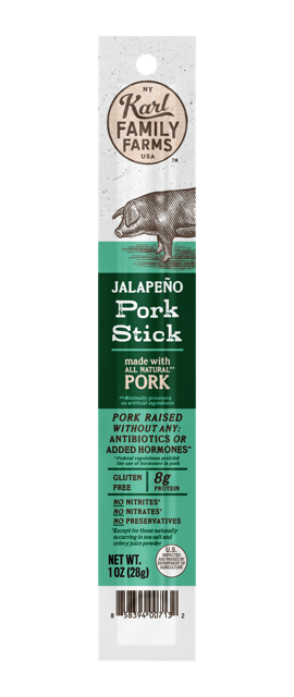 Karl Family Farms Jalapeno Pork Stick