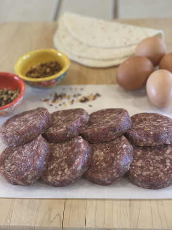 Beef Breakfast Sausage Patties (O-Spicy)
