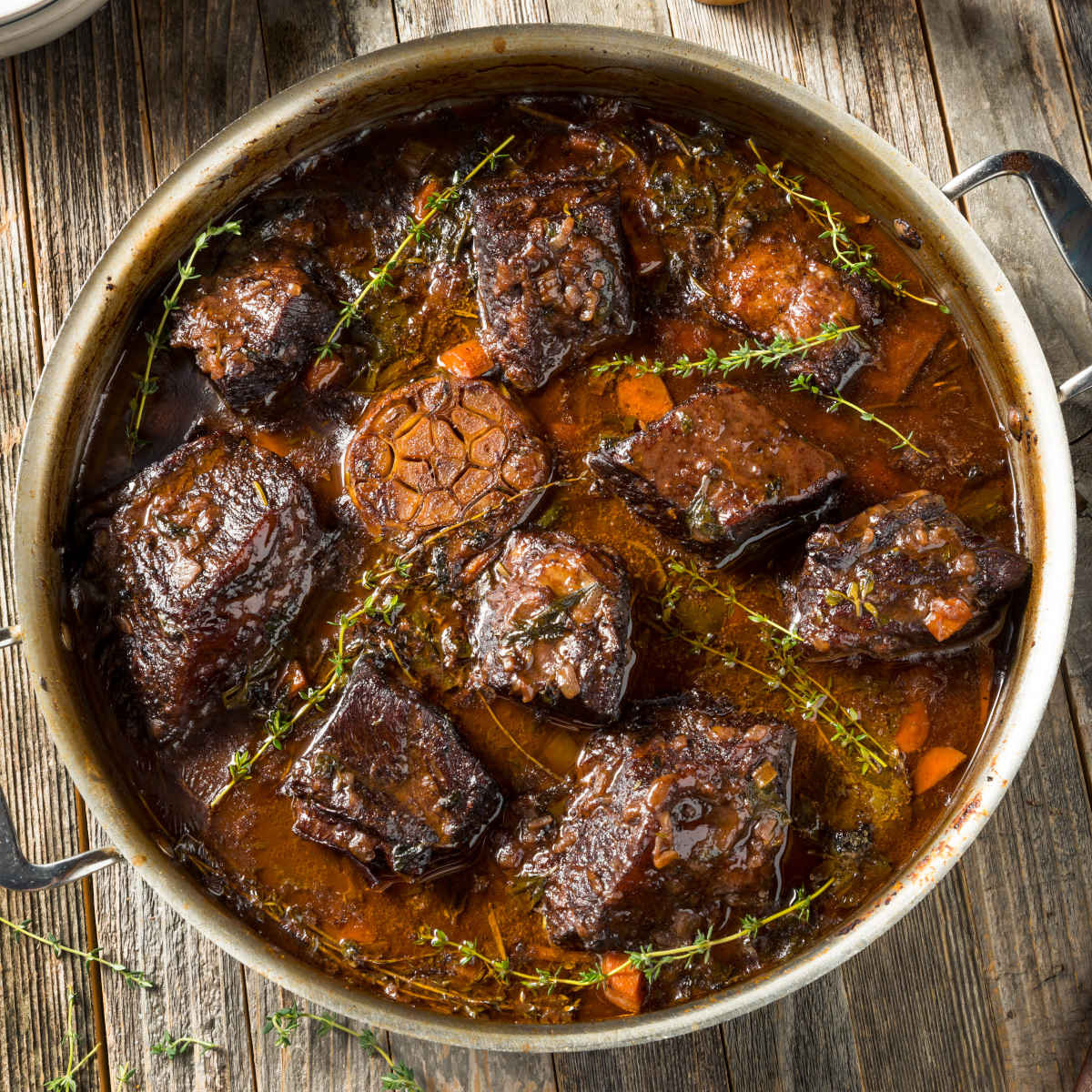 Braised Short Ribs with Rosemary Polenta & Orange Gremolata