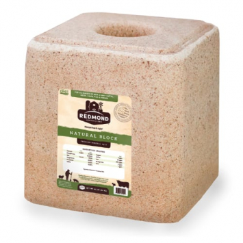 Redmond Natural Trace Mineral Salt Block OMRI