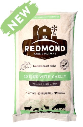 Redmond Natural Trace Mineral (NTM) Salt #10 Fine With Garlic OMRI