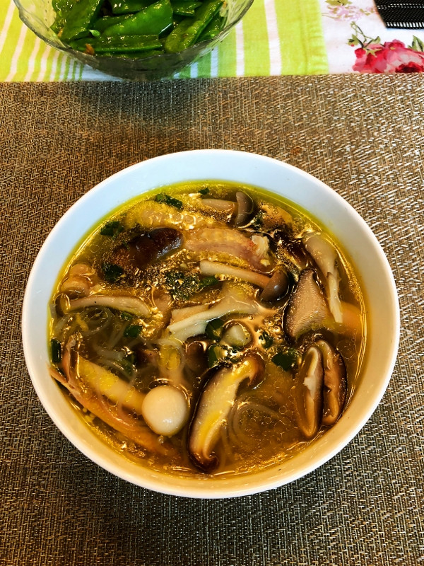 Jie's Mushroom Sweet Potato Noodle Soup Recipe