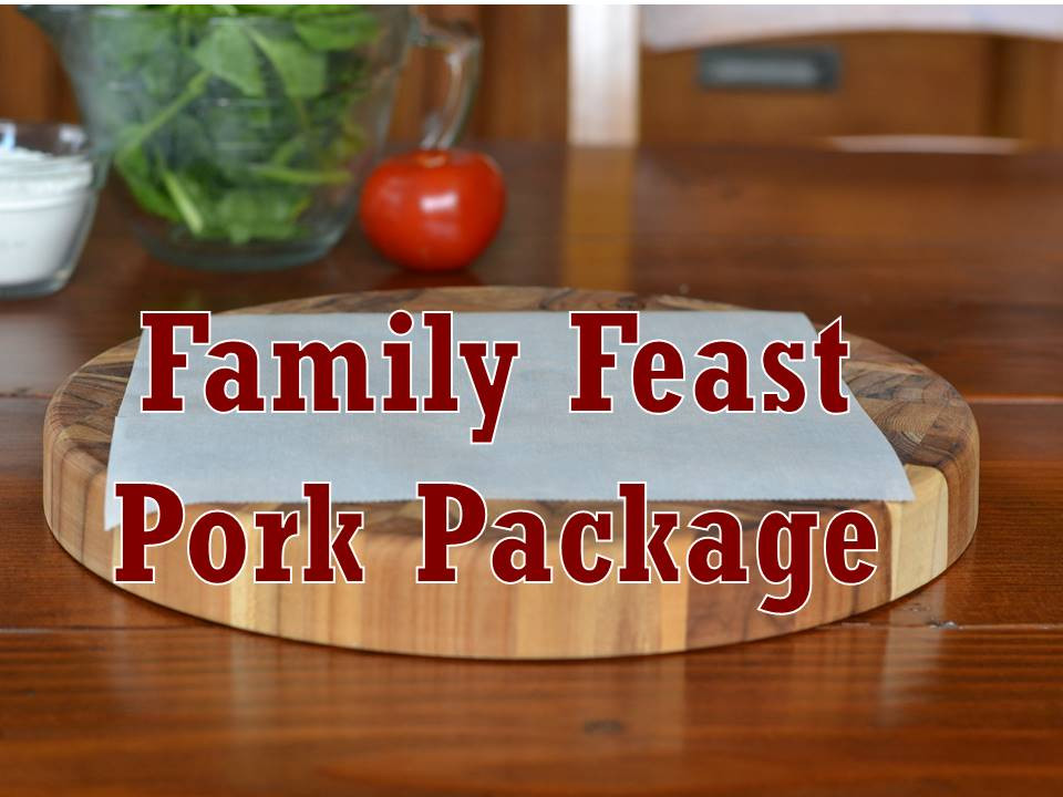 Package, Pork, Family Feast