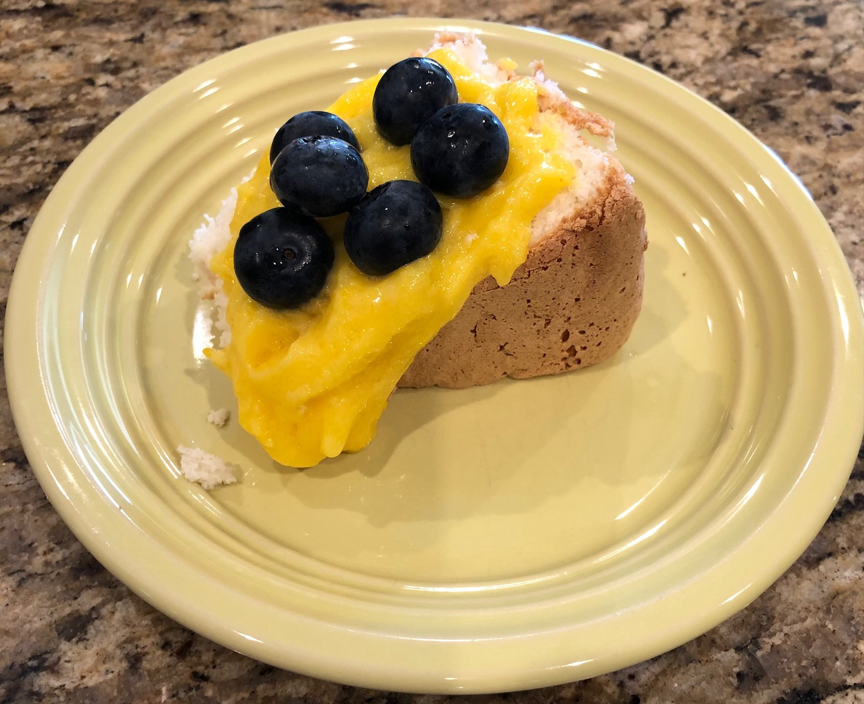 Angel Food Cake & Lemon Curd