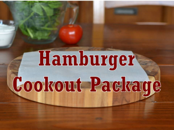 Package, Beef, Hamburger Cookout Package