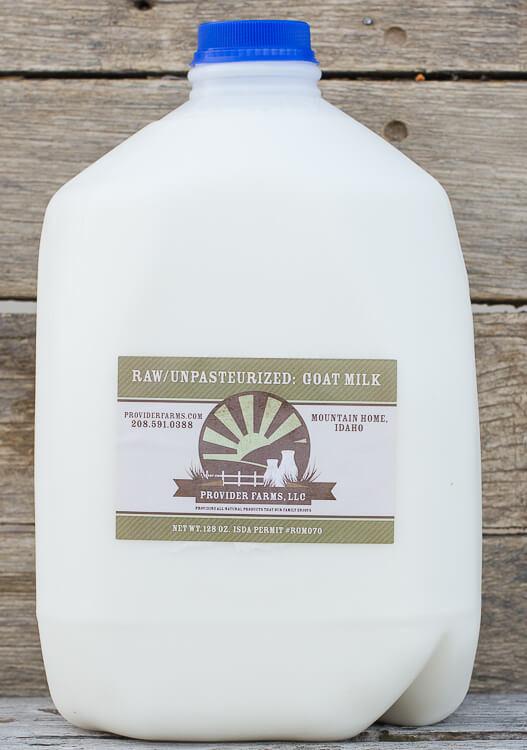 1 Gallon Raw Goat Milk (plastic)