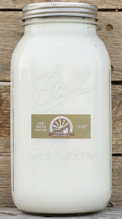 Cow Greek Yogurt (Bulk 32 oz  GLASS JAR)