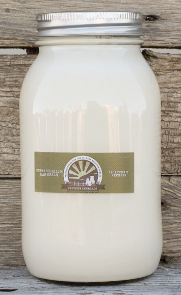 1 Quart Raw Cream (glass)