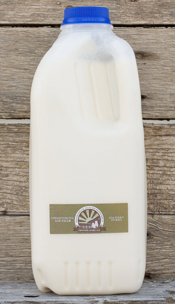 1/2 gallon Raw Cream (plastic)