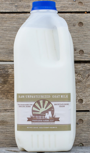 1/2 gallon Raw Goat Milk (plastic)