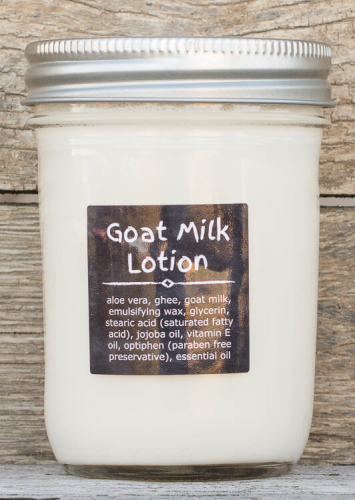 1/2 Pint Goat Milk Lotion (Ghee, Unscented)