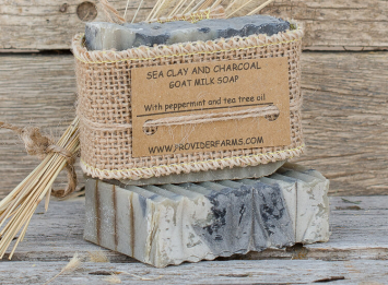 Goat Milk Soap (Sea Clay & Charcoal)
