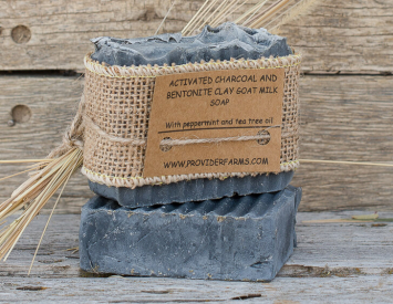 Goat Milk Soap (Activated Charcoal & Bentonite Clay)