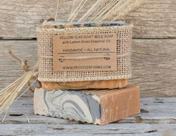Goat Milk Soap (Yellow Clay & Charcoal)