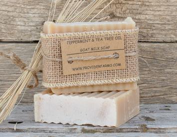 Goat Milk Soap gift (Peppermint & Tea Tree)
