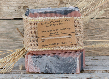 Goat Milk Soap gift (Rose Clay & Charcoal)
