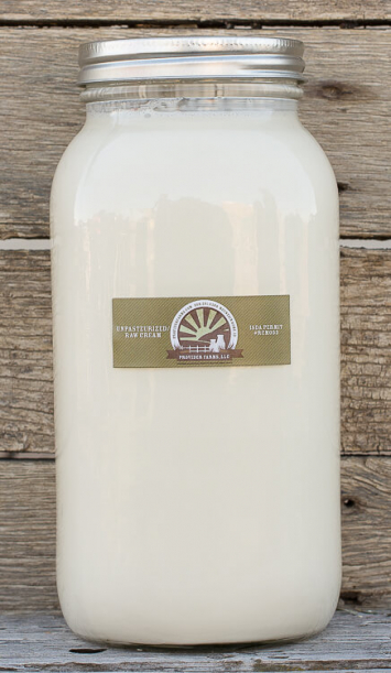 1/2 gallon Raw Cream (glass)