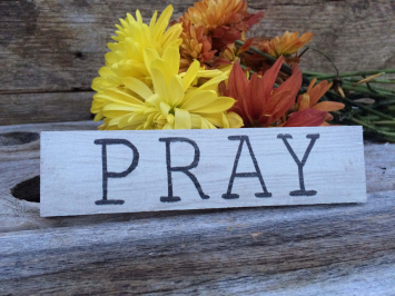 Pray (wooden sign)