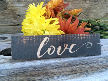 Love (wooden sign)